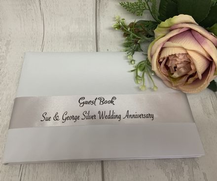 Silver  Wedding Anniversary Personalised Ribbon